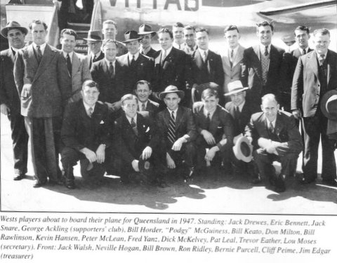 Bill with the 1947 side off to Queensland